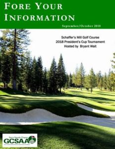 "November/December 2018 Issue ""Fore Your Information"""