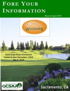 "March/April 2019  ""Fore Your Information"""